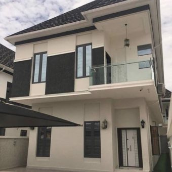 5 bedroom fully detached house with a room BQ, Chevron Lekki Lagos.